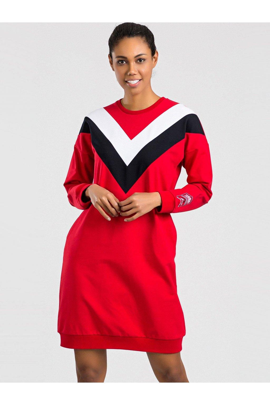 pol pl TOMMY LIFE Czerwono biala sukienka 327349 1