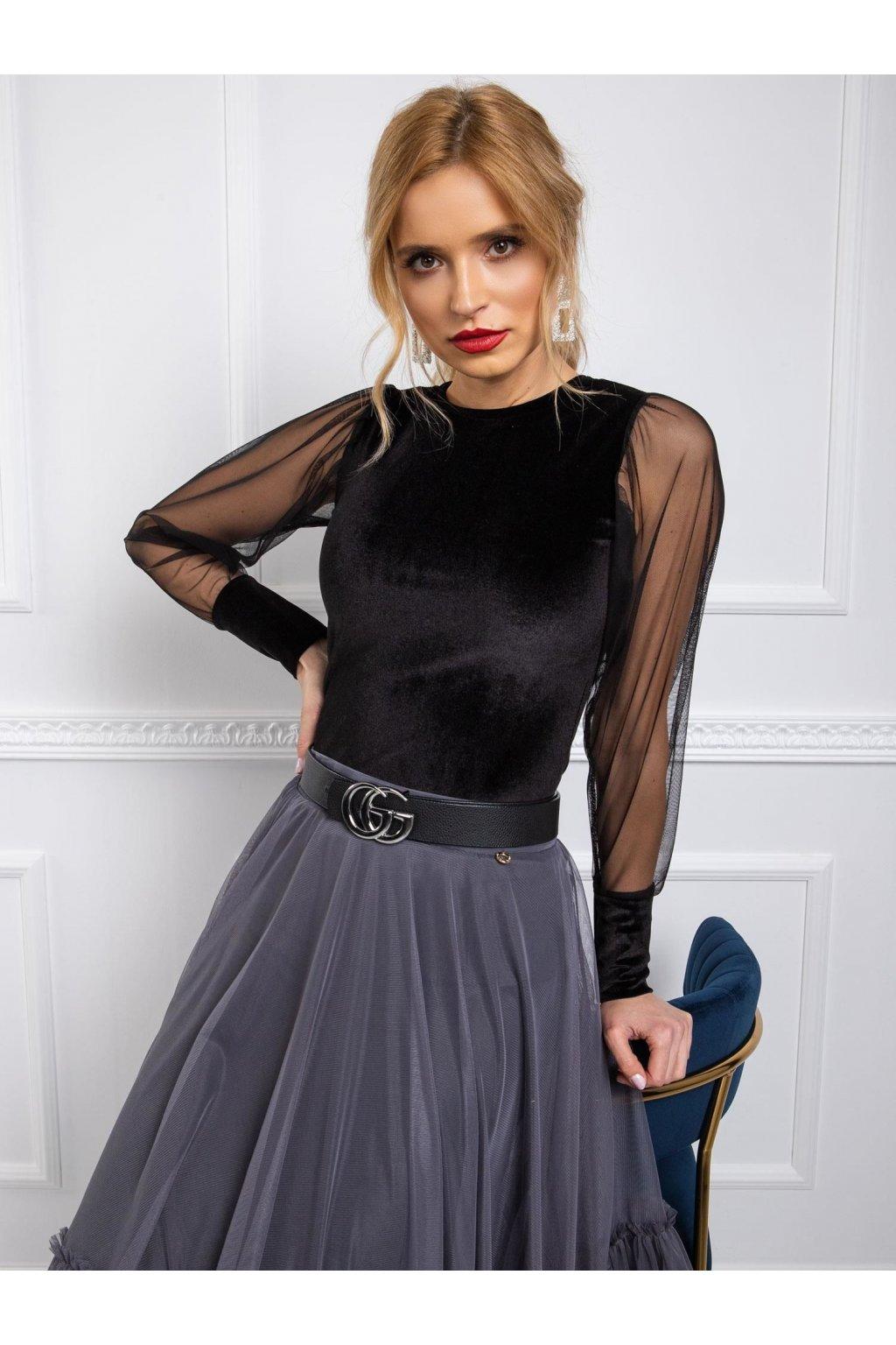 pol pl RUE PARIS Czarna bluzka Chloe 339943 4