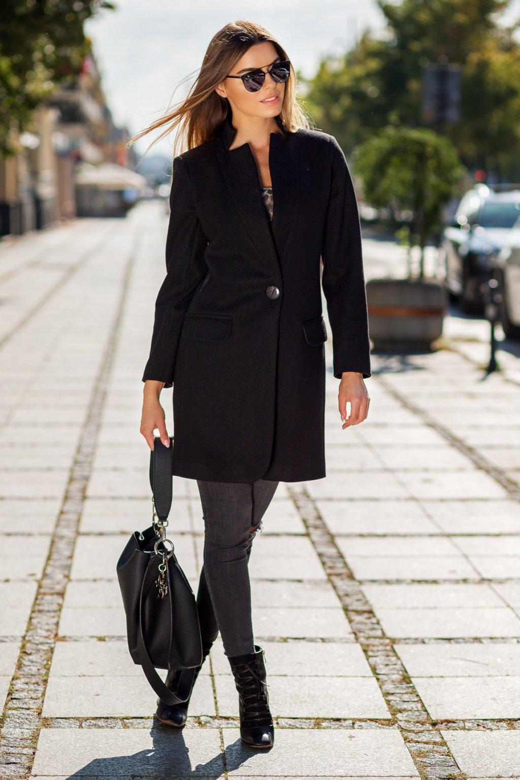 Dámsky prechodný kabát 7882 čierny