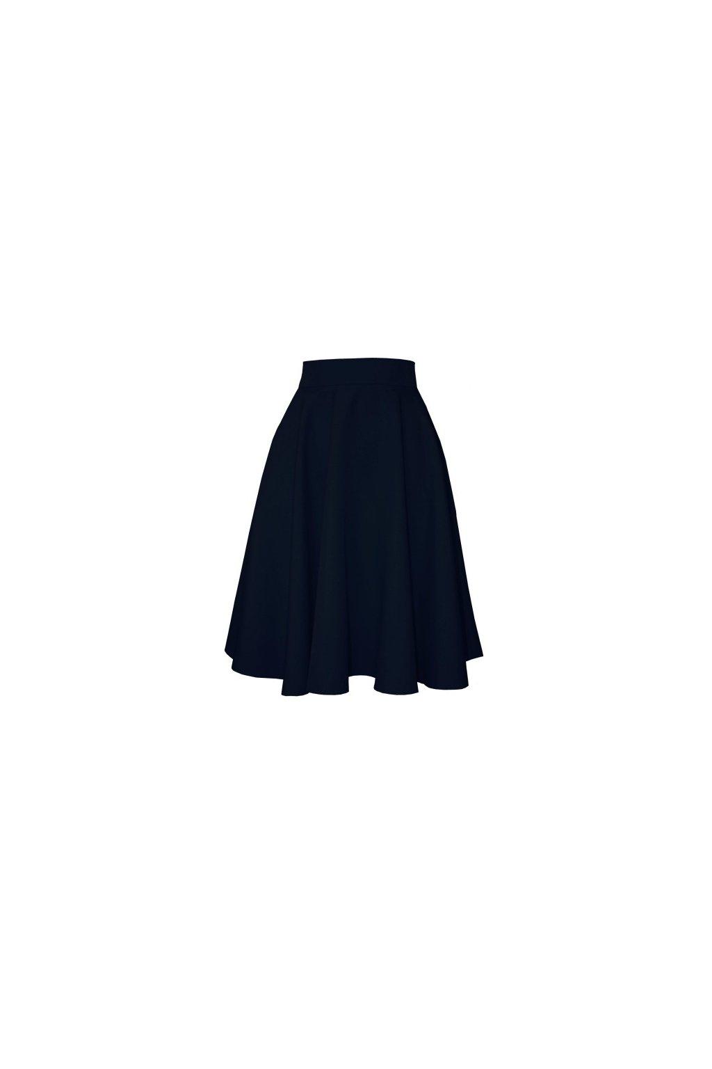 3ad18fa6d790 Áčková sukňa klasik čierna - Tentation.sk