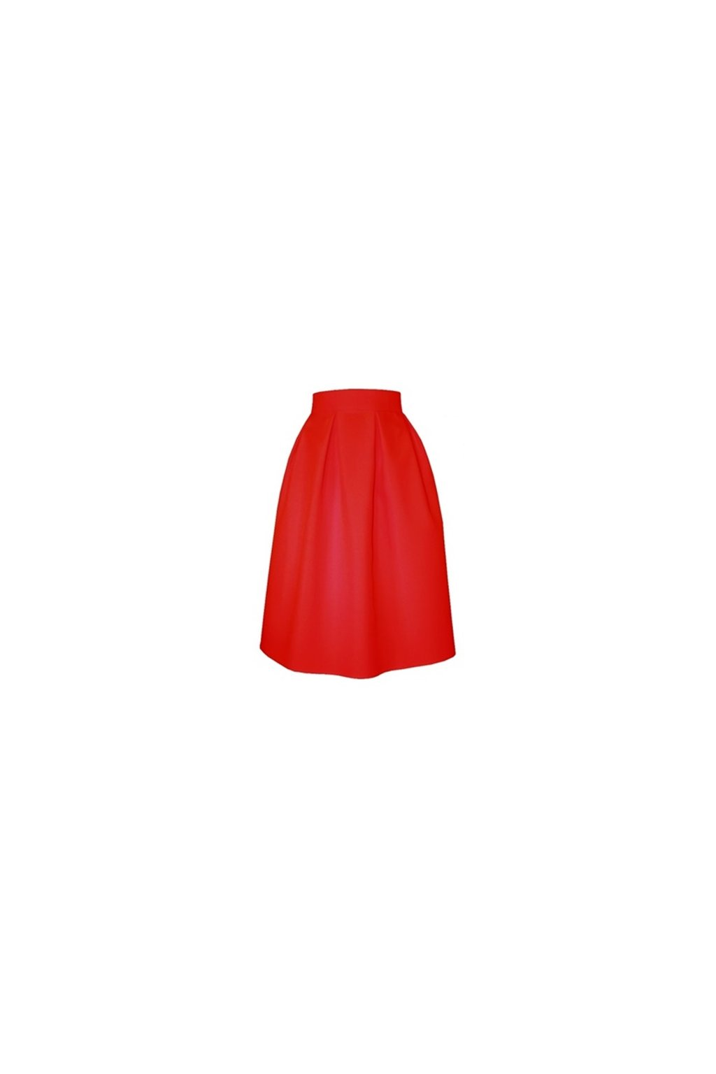 a371d2e4f302 Áčková sukňa s protizáhybmi červená - Tentation.sk