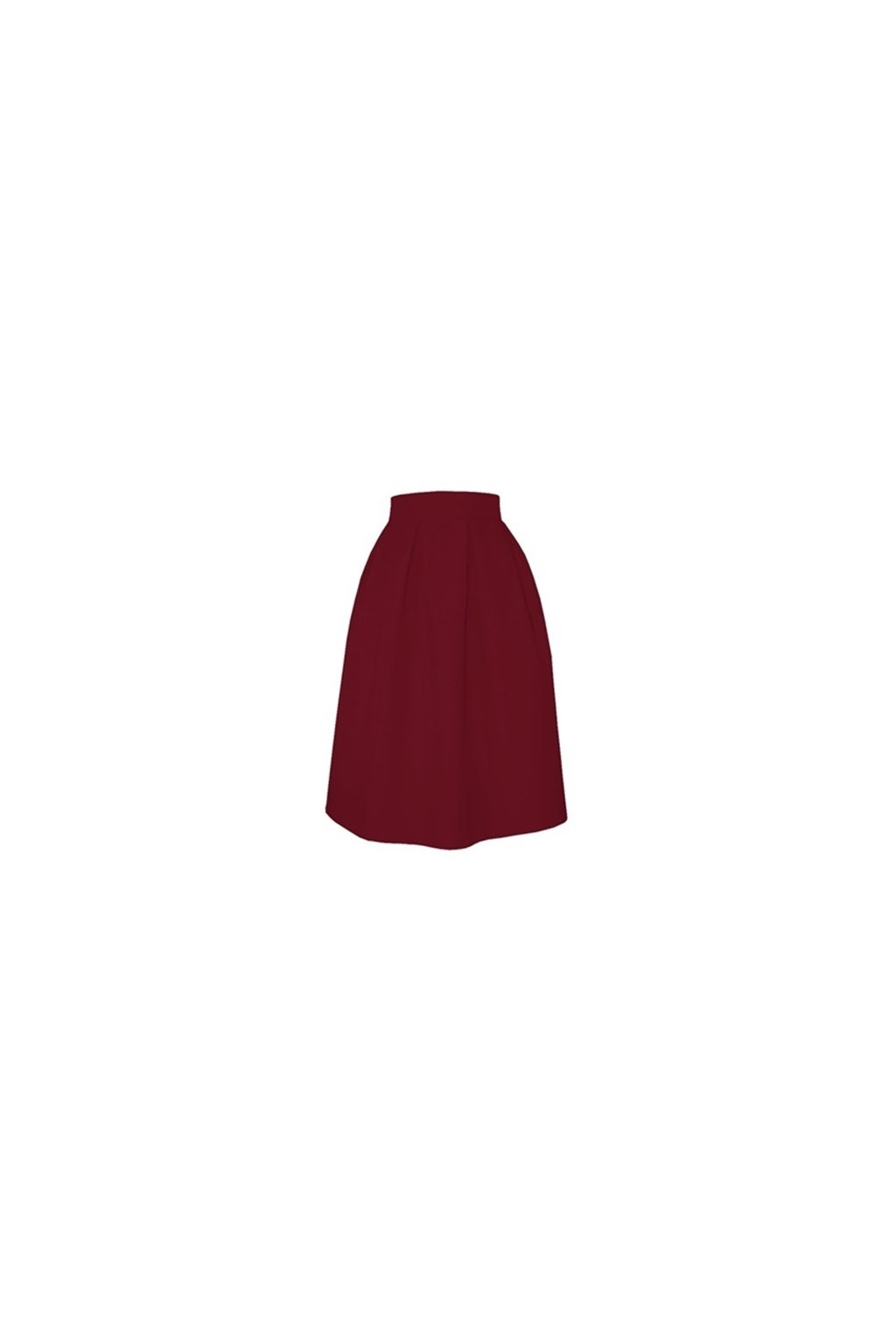 17862790d446 Áčková sukňa s protizáhybmi bordová - Tentation.sk