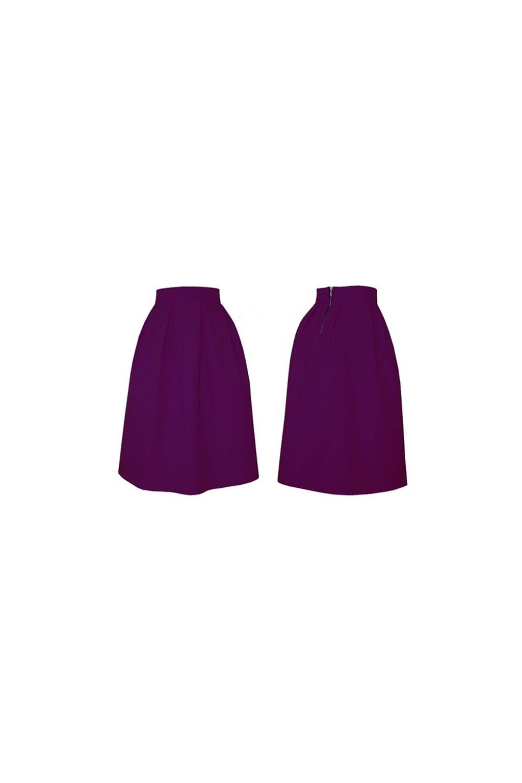 b02ddc46779e Áčková sukňa s protizáhybmi fialová - Tentation.sk