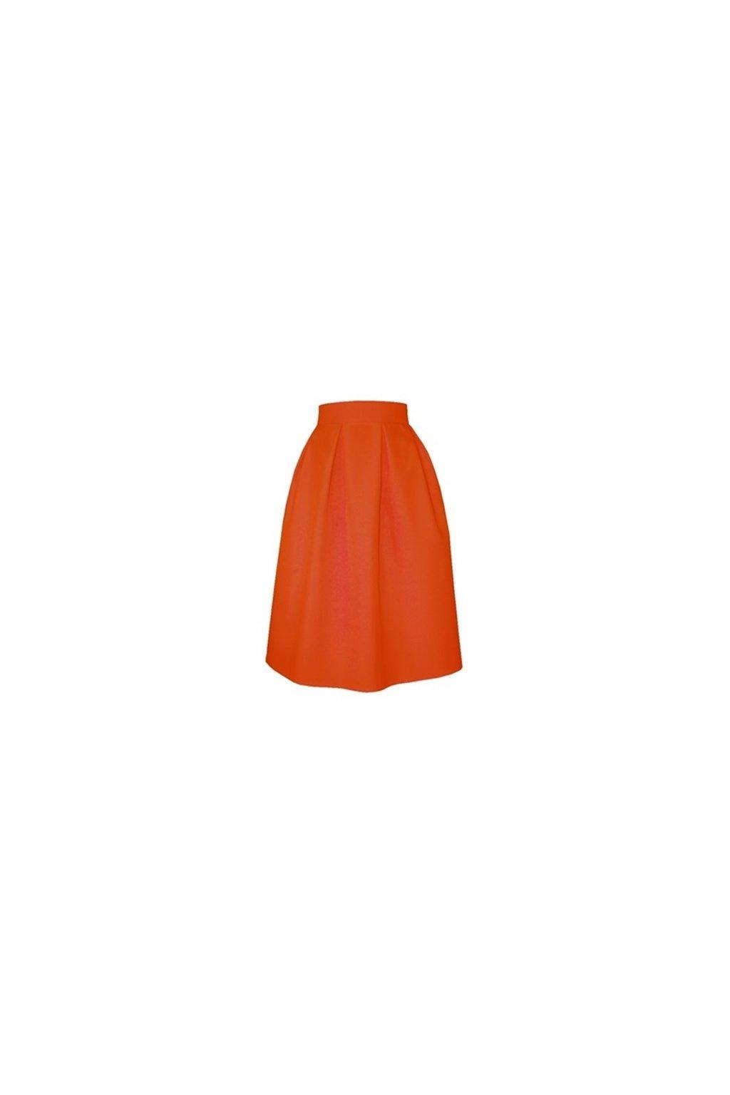 f5cd9281cb74 Áčková sukňa s protizáhybmi oranžová - Tentation.sk