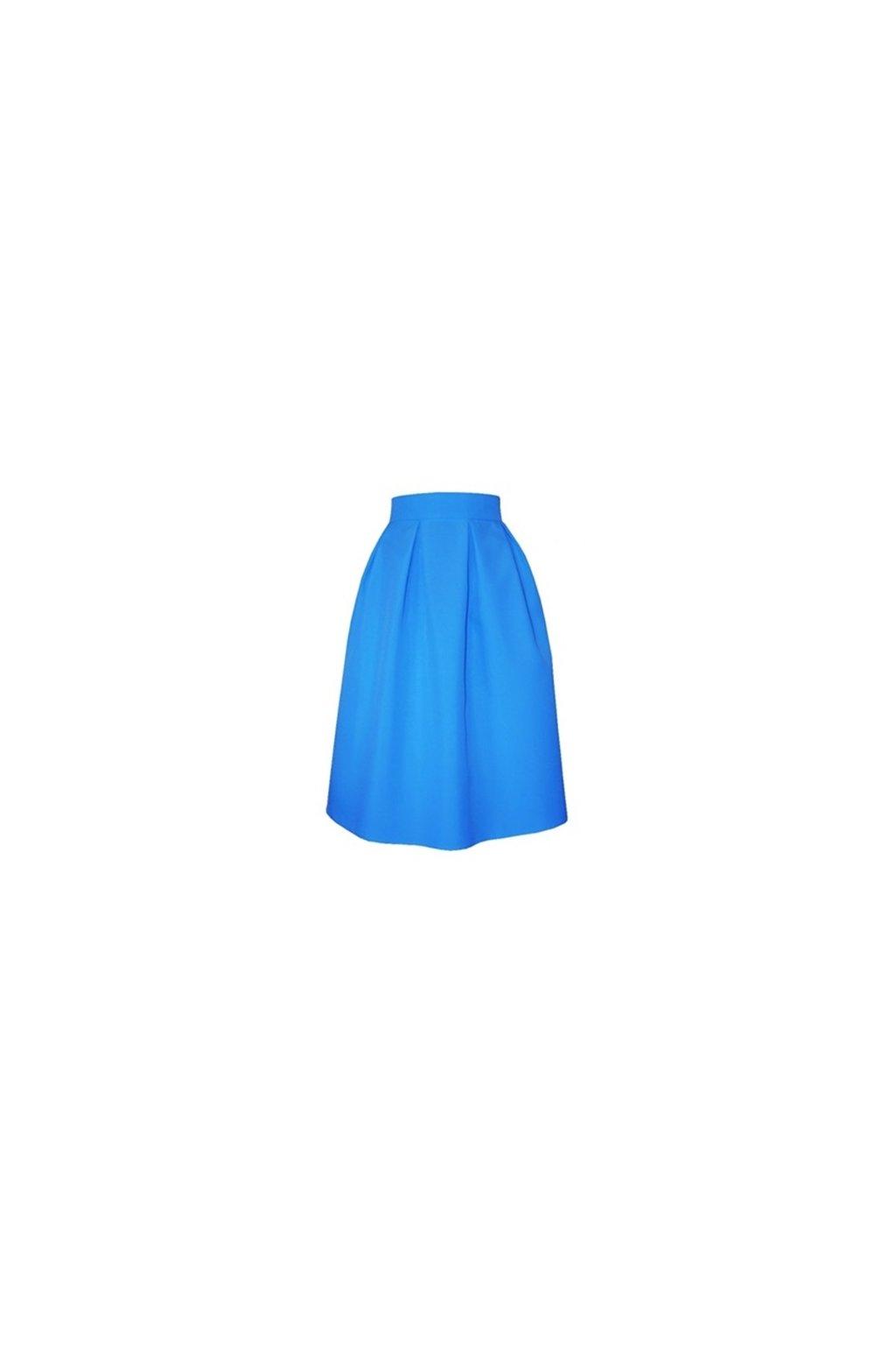 cb7126c892b4 Áčková sukňa s protizáhybmi modrá - Tentation.sk
