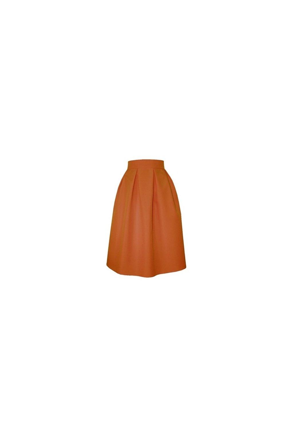 b53408d8a47b Áčková sukňa s protizáhybmi tehlová - Tentation.sk