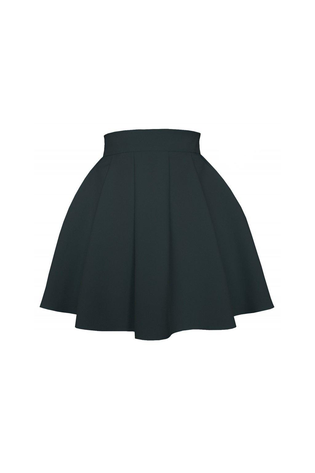 70a771468409 Áčková sukňa mini volán čierna - Tentation.sk