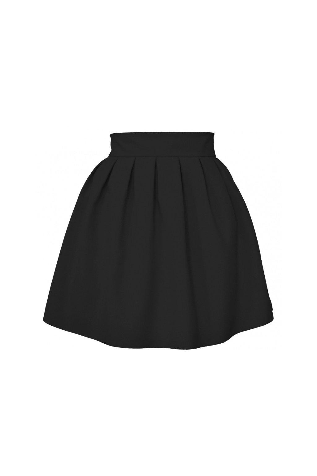 cf0573039971 Áčková sukňa mini tulip čierna - Tentation.sk