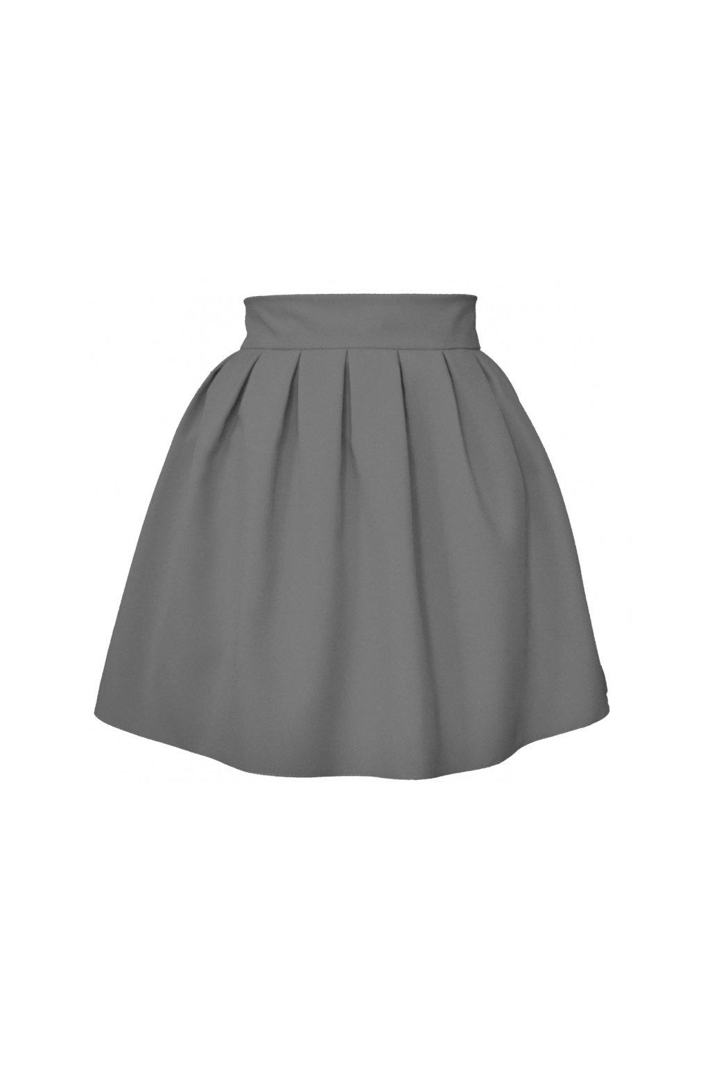 10d6271e503e Áčková sukňa mini tulip šedá - Tentation.sk