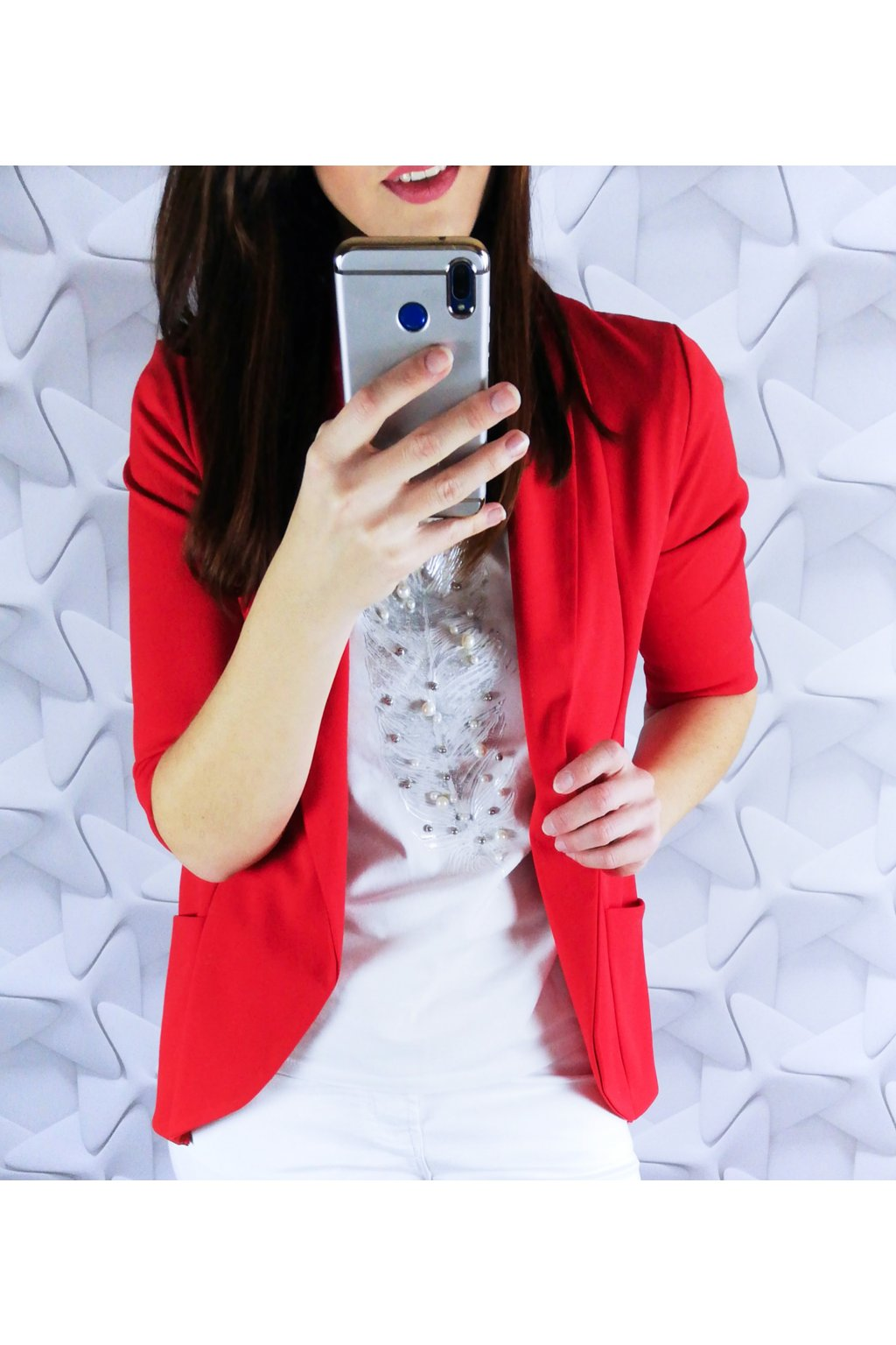 24eea062d67e Elegantné dámske sako červené - Tentation.sk