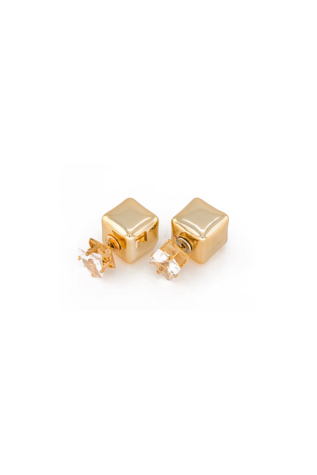 Obojstranné náušnice dior kocka