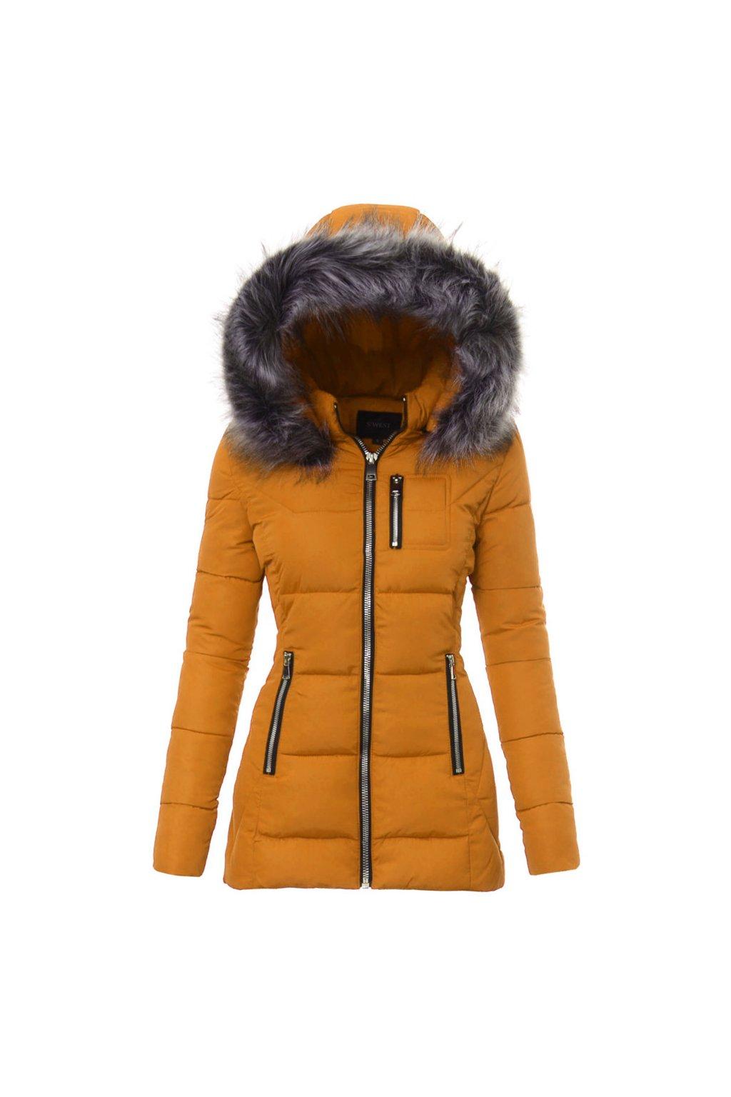 Dámska zimná bunda s kapucňou 3042 čierna - Tentation.sk cfea52a7498