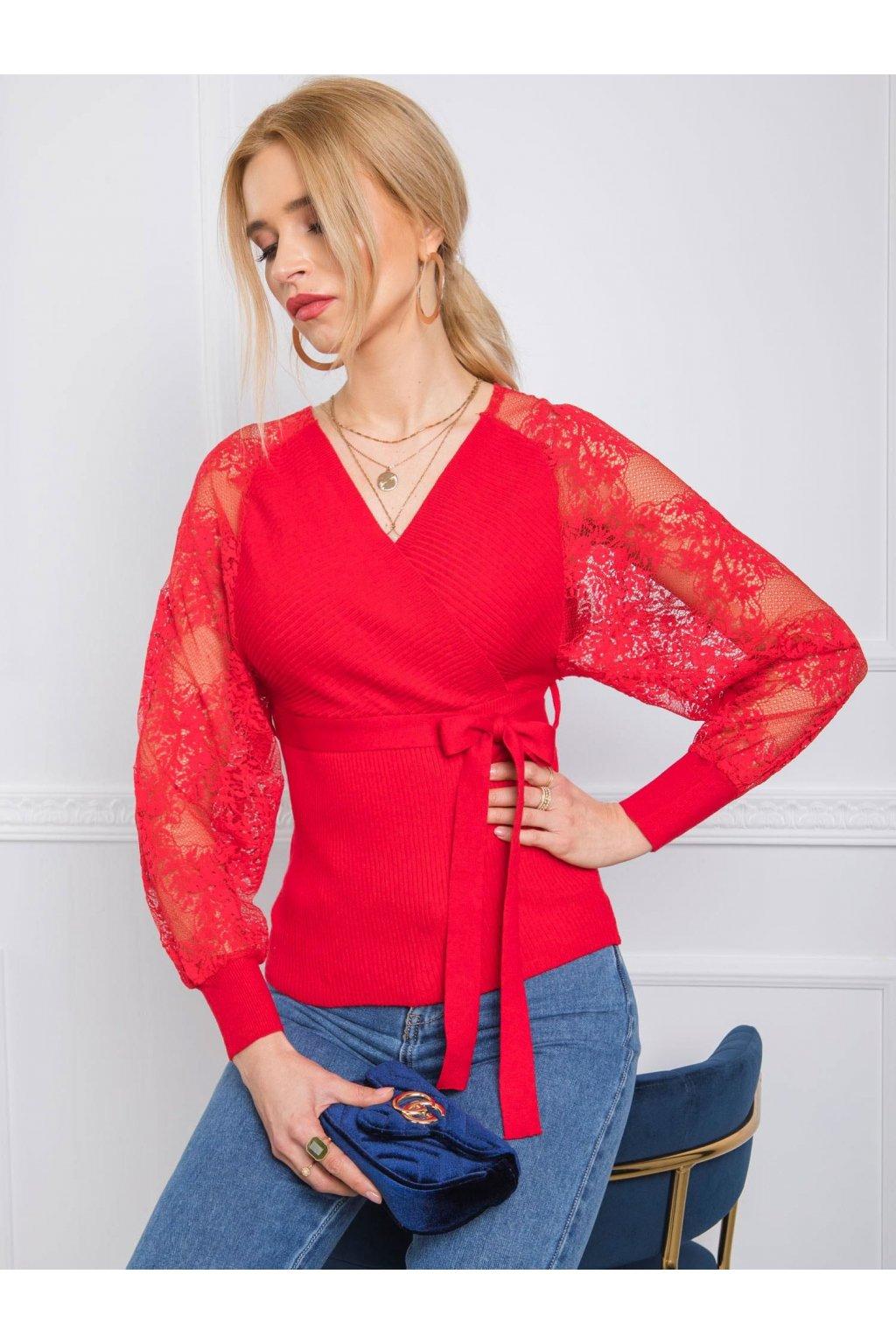 pol pl Czerwony sweter Journee 342931 1