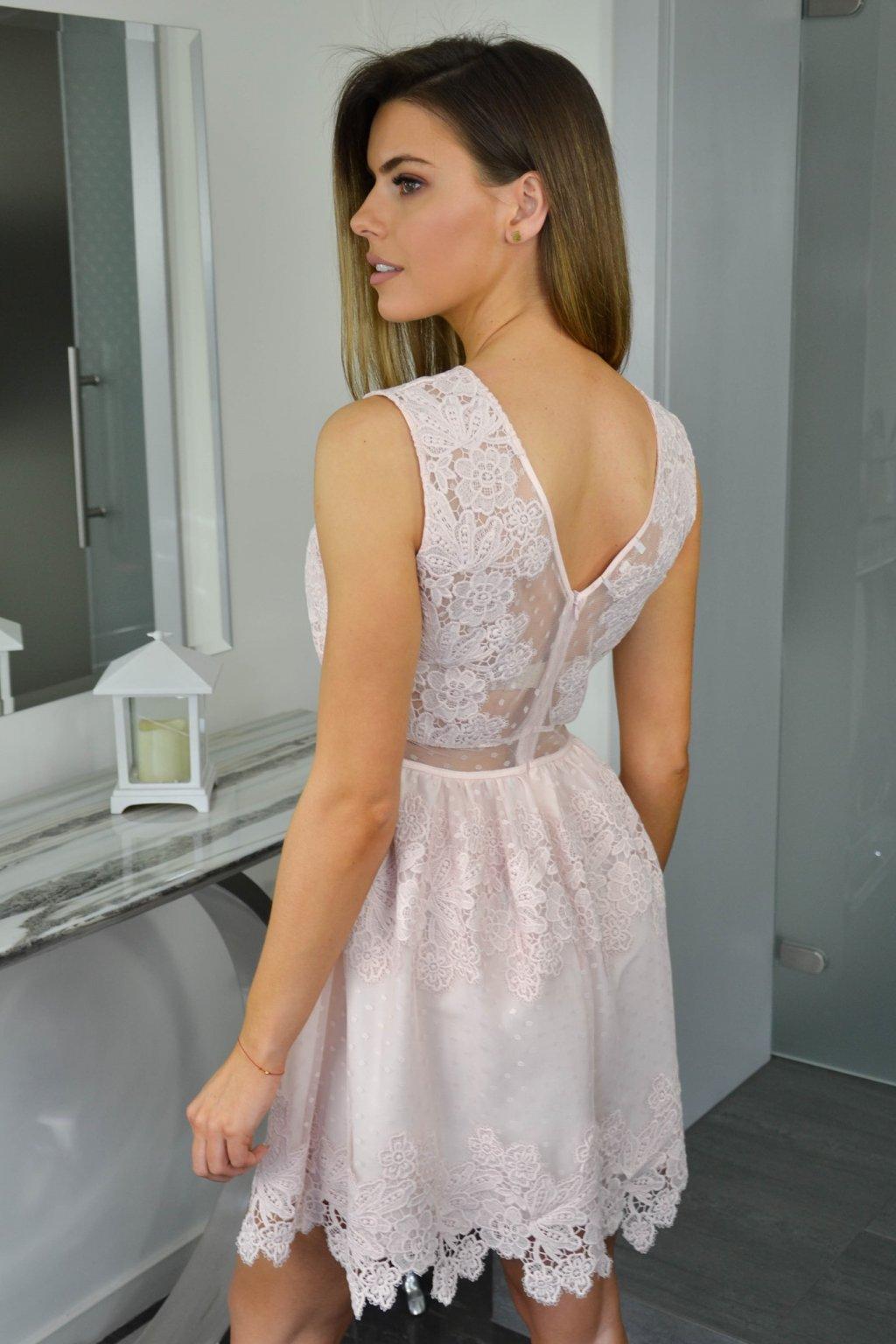 8ad8a50923 Dámske čipkované šaty 7456 ružové Dámske čipkované šaty 7456 ružové