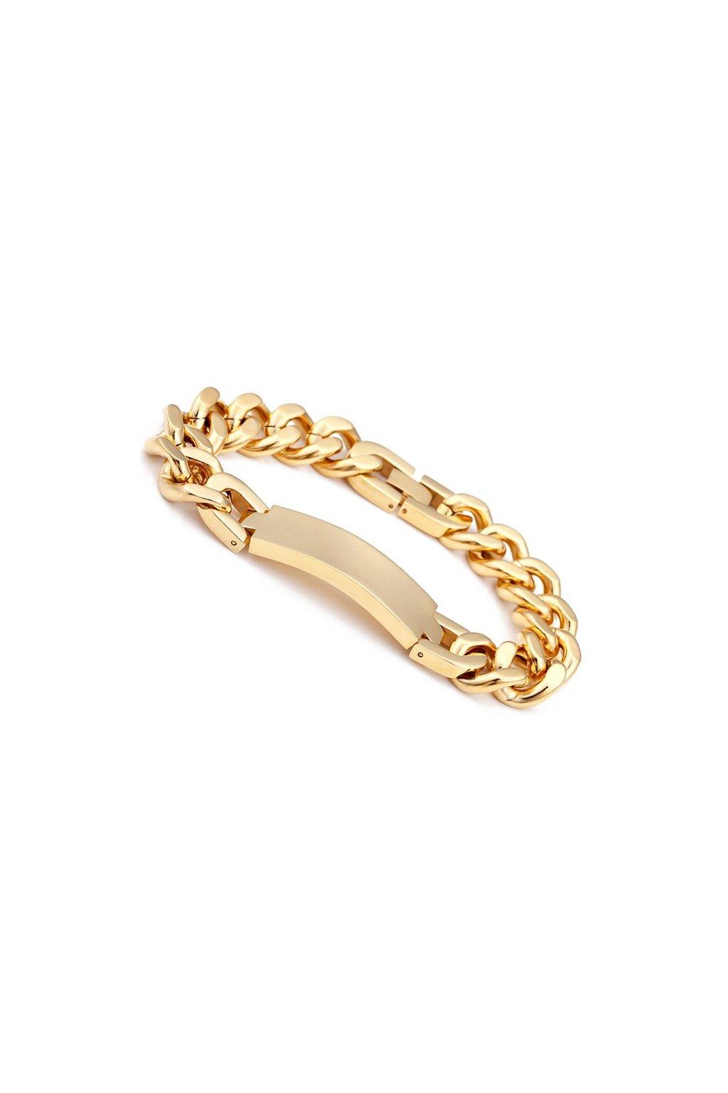 bab76cdd7 Pánsky zlatý náramok z chirurgickej ocele 33536 - Tentation.sk