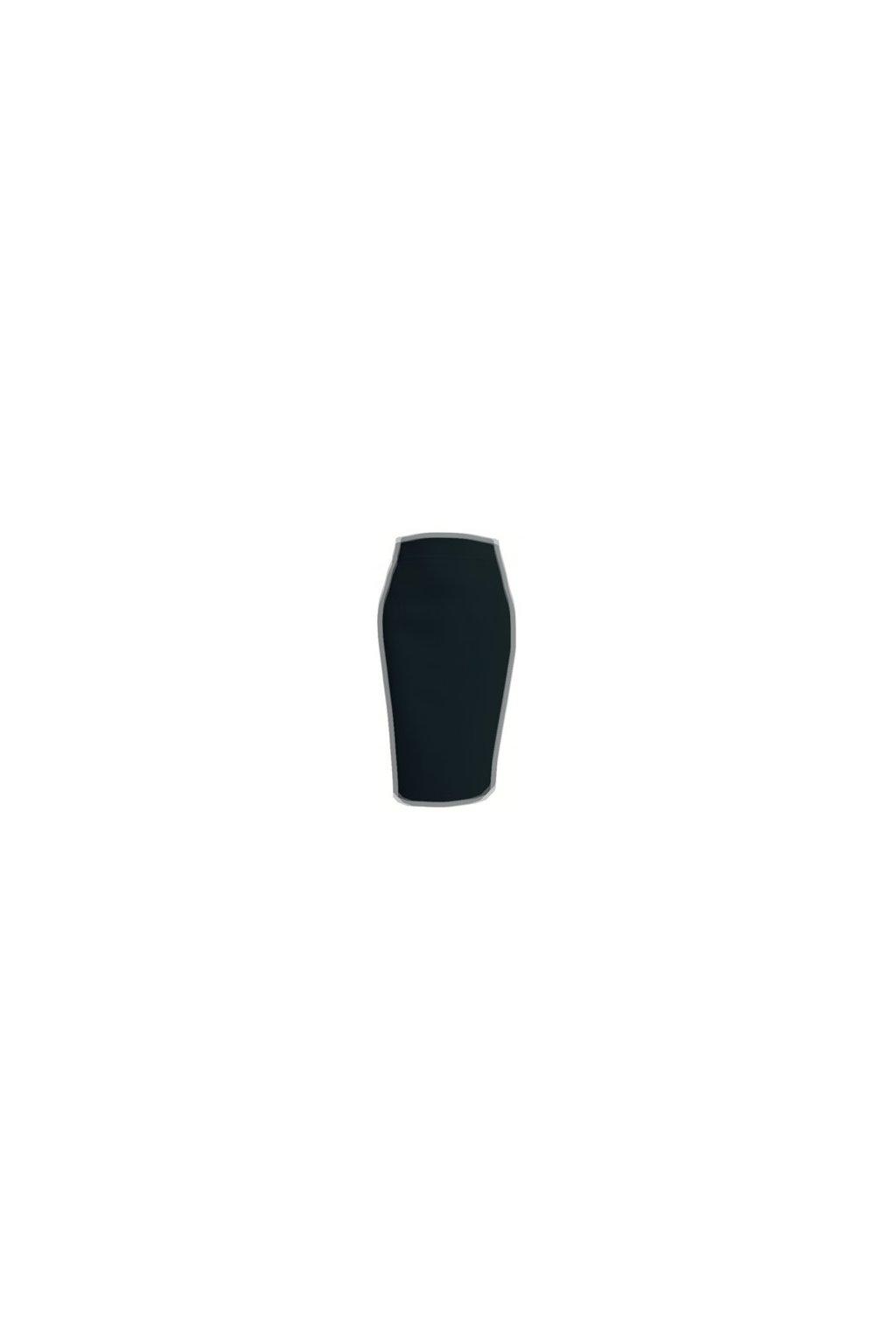 Dámska puzdrová sukňa čierna