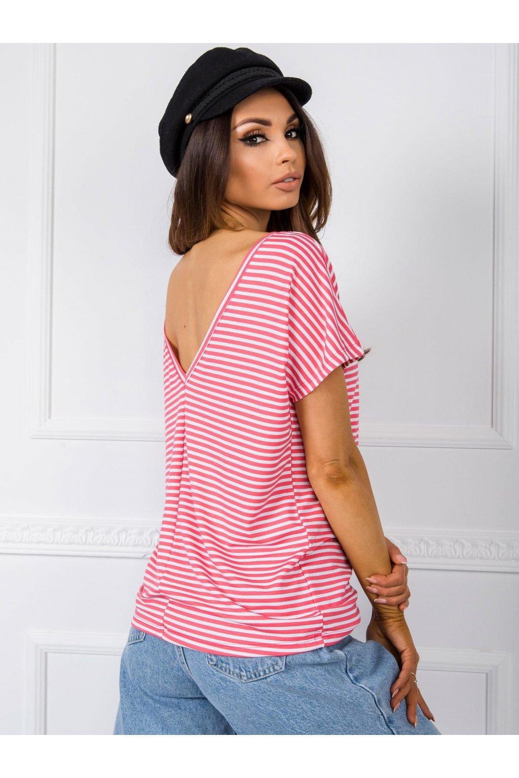 pol pl Bialo koralowy t shirt Gina RUE PARIS 348052 1