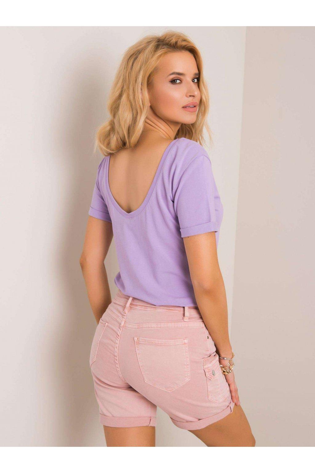 Dámske tričko s krátkym rukávom Lucie fialové