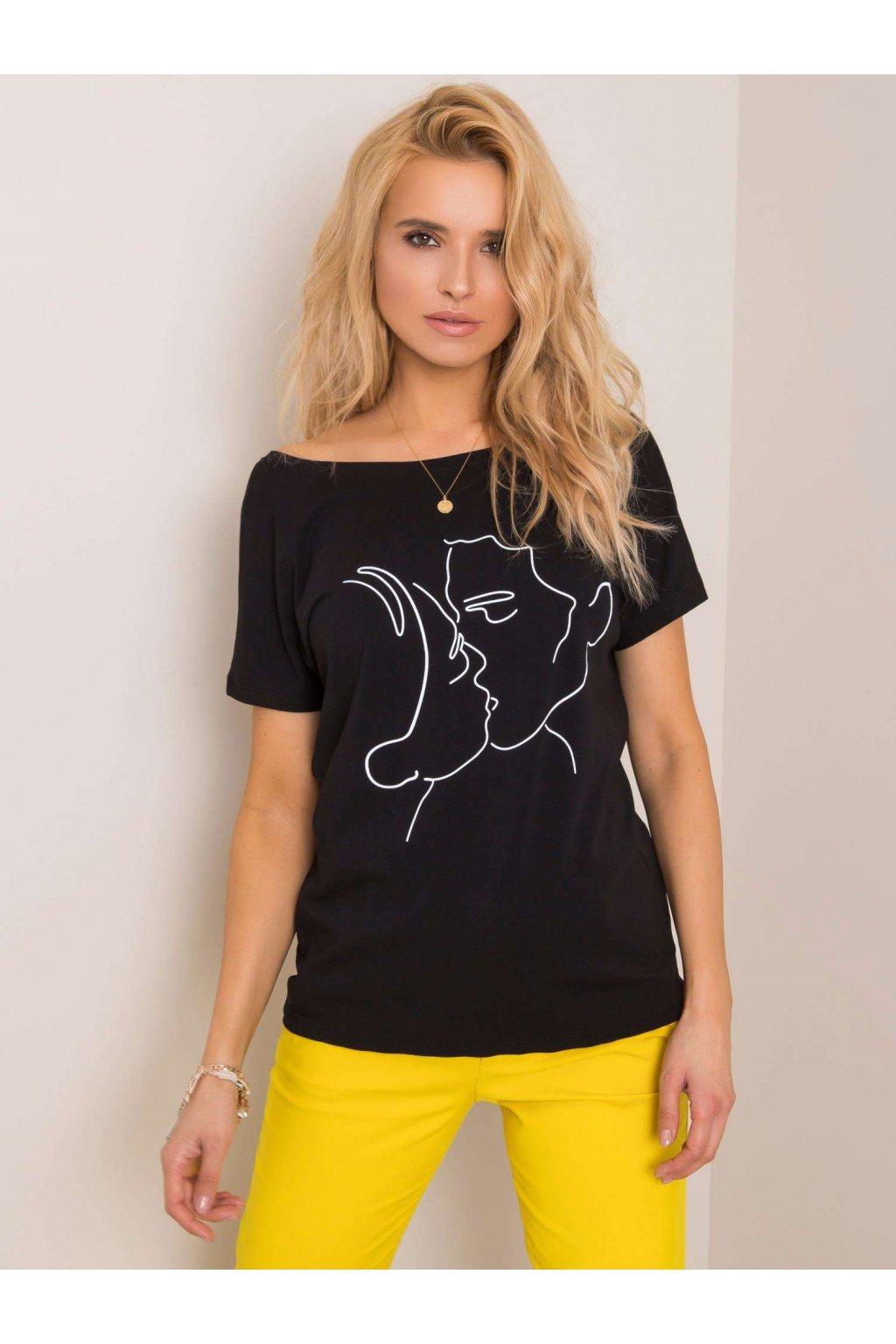pol pl Czarny t shirt Kiss RUE PARIS 351319 1