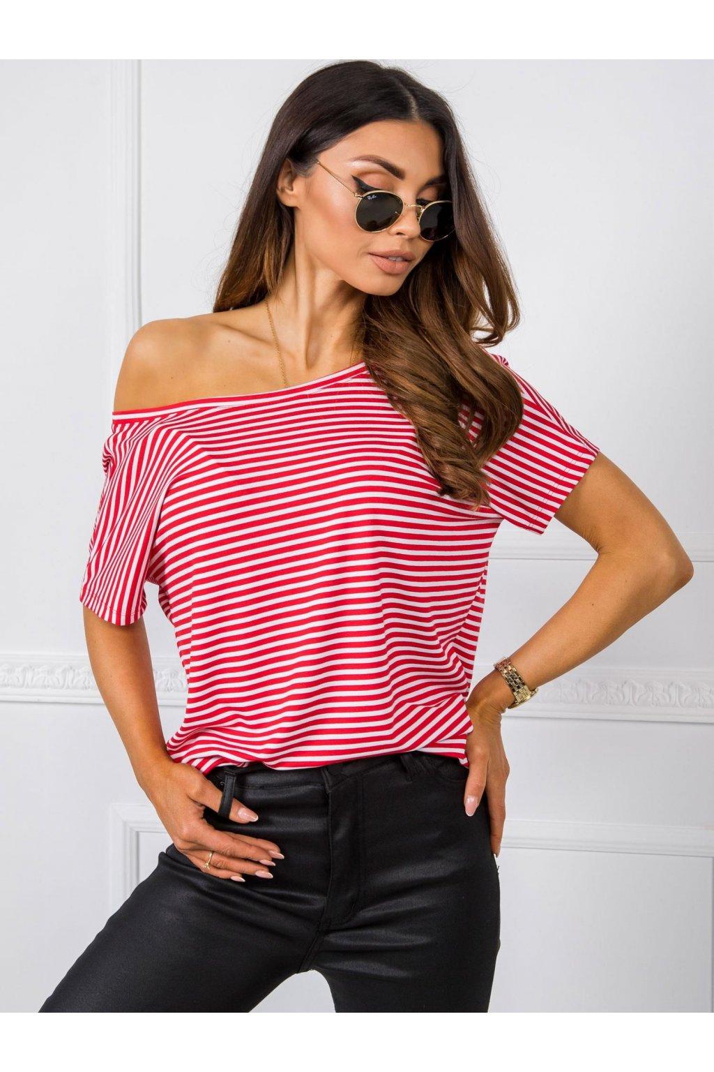 pol pl Bialo czerwony t shirt Gina RUE PARIS 348056 1