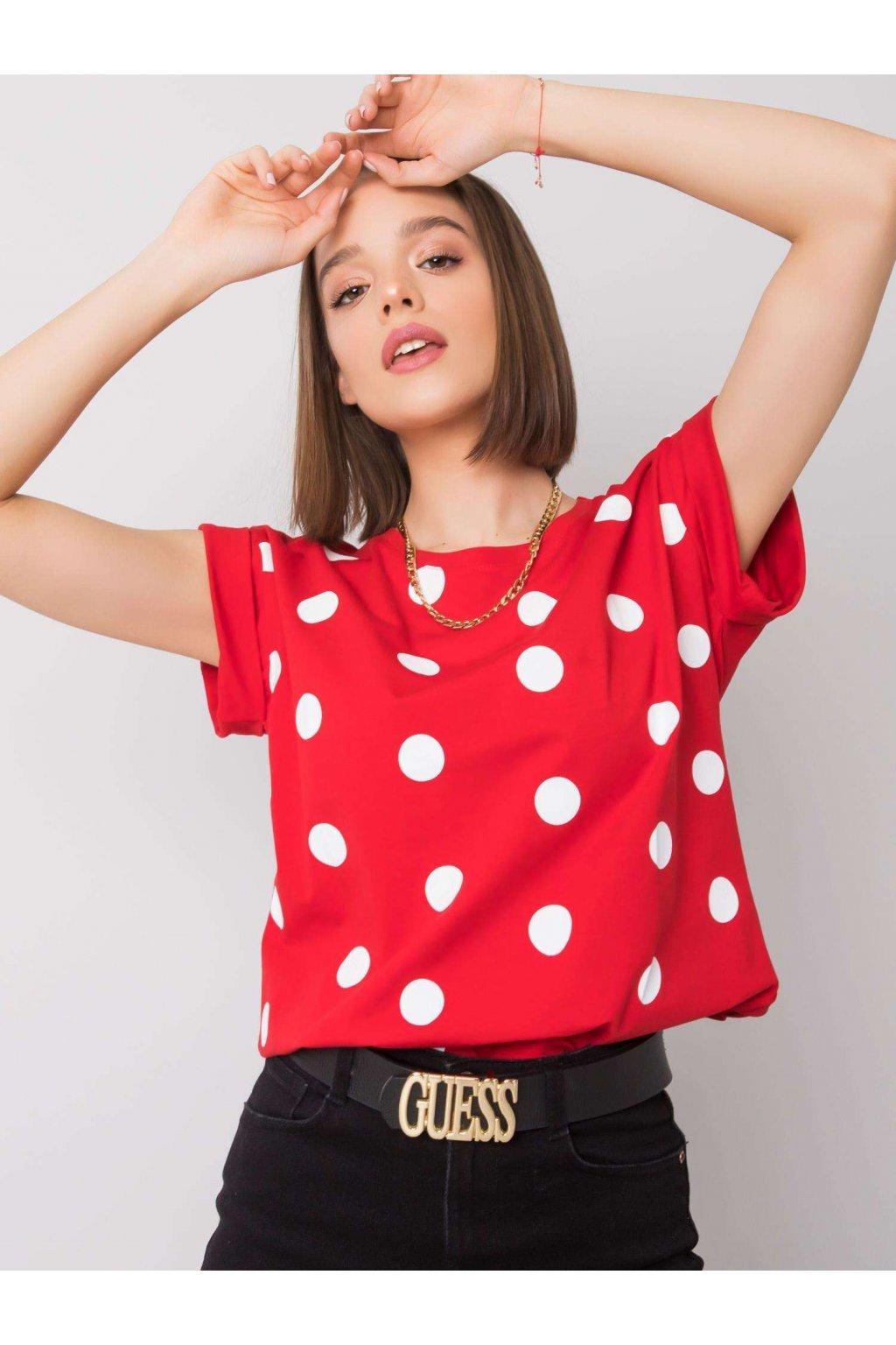 pol pl Czerwono bialy t shirt Catrina RUE PARIS 360325 1