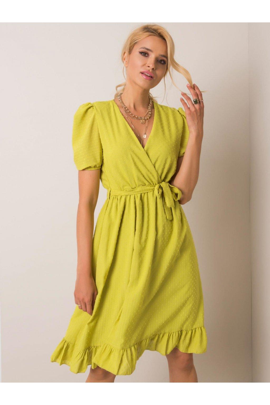 Elegantné zavinovacie šaty Colette zelené