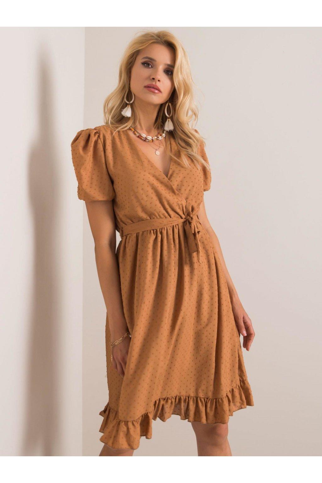 pol pl Jasnobrazowa sukienka Colette RUE PARIS 352104 1