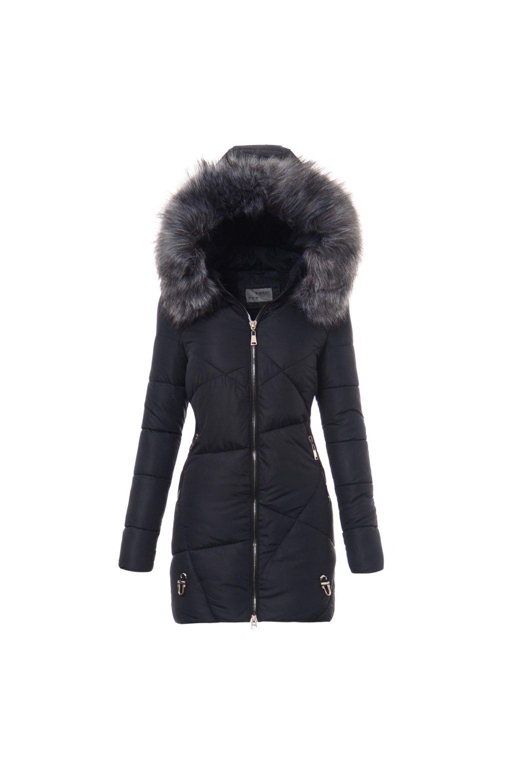 Dámska zimná bunda s kapucňou 4757 modrá