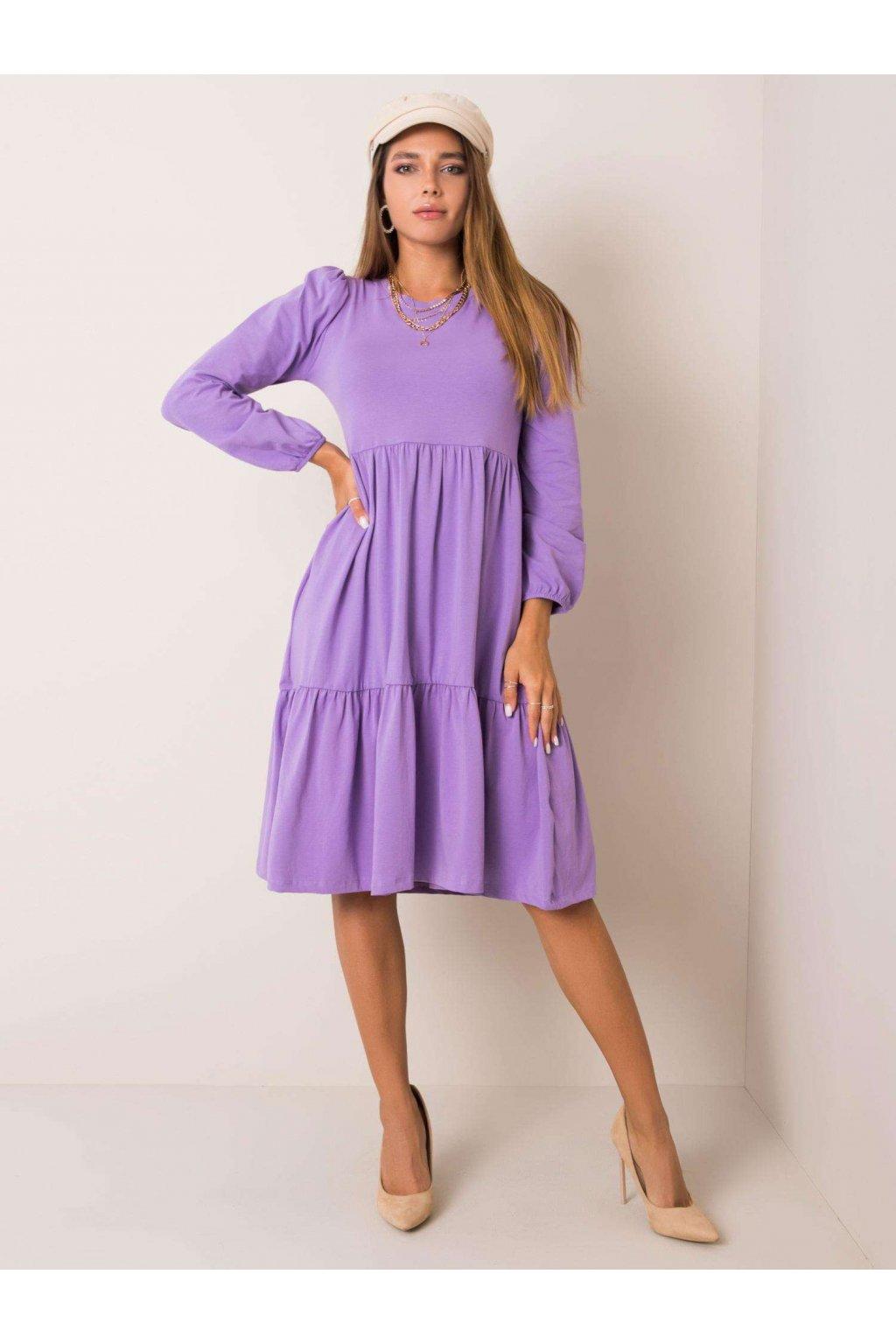 Dámske úpletové šaty Yvonne fialové