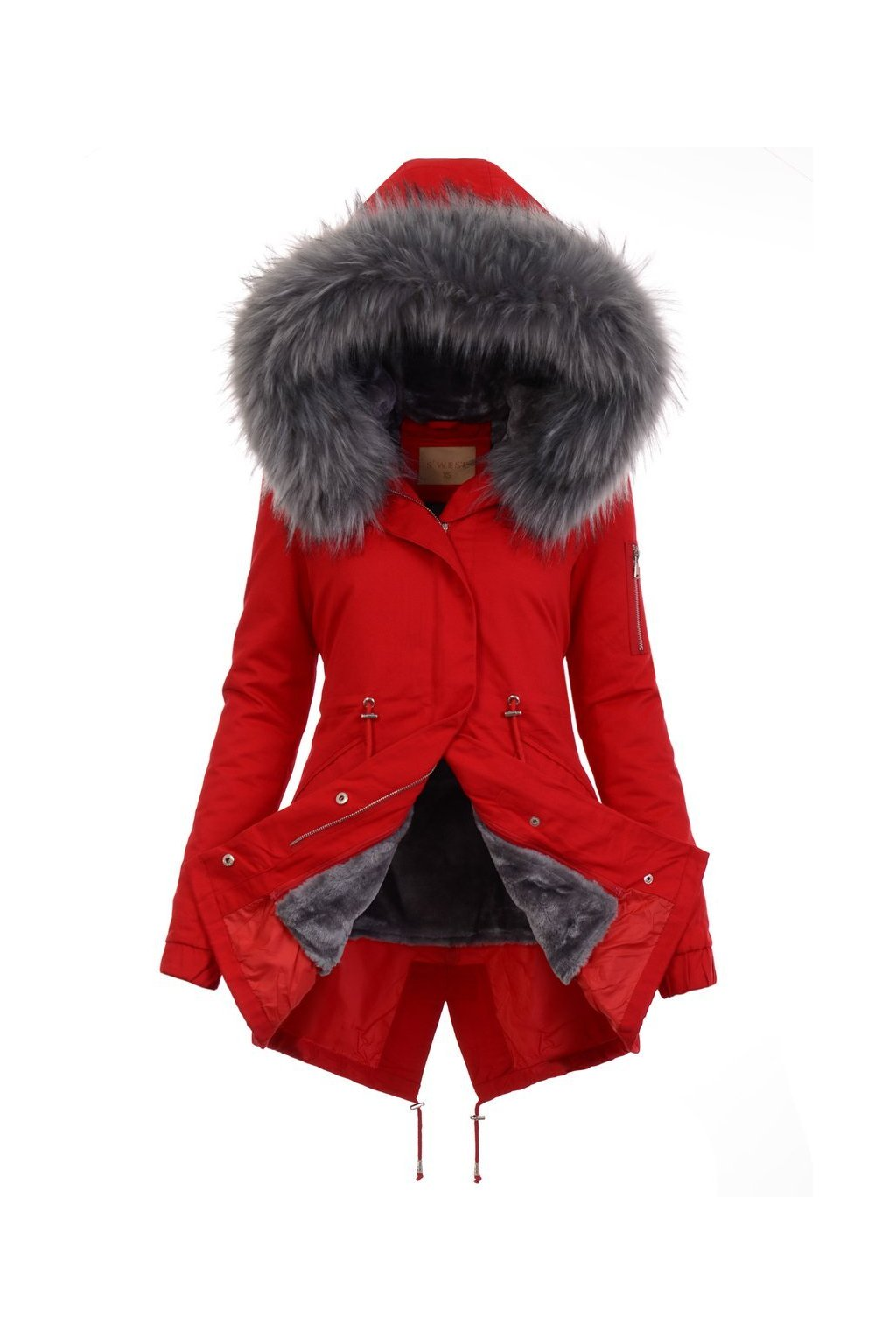 Dámska zimná bunda parka 2v1 5080 červená
