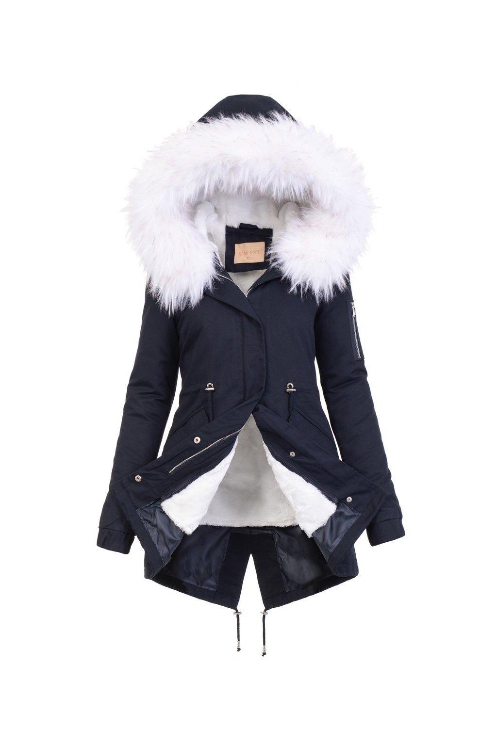 Dámska zimná bunda parka 2v1 5077 modrá
