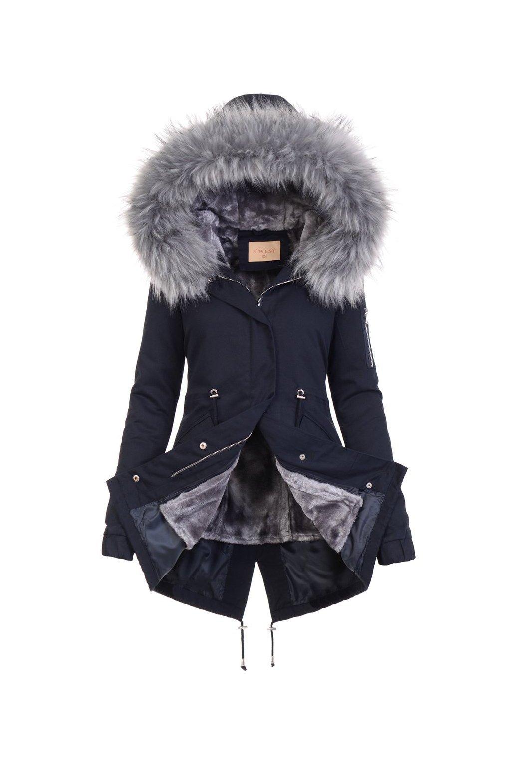 Dámska zimná bunda parka 2v1 5075 modrá