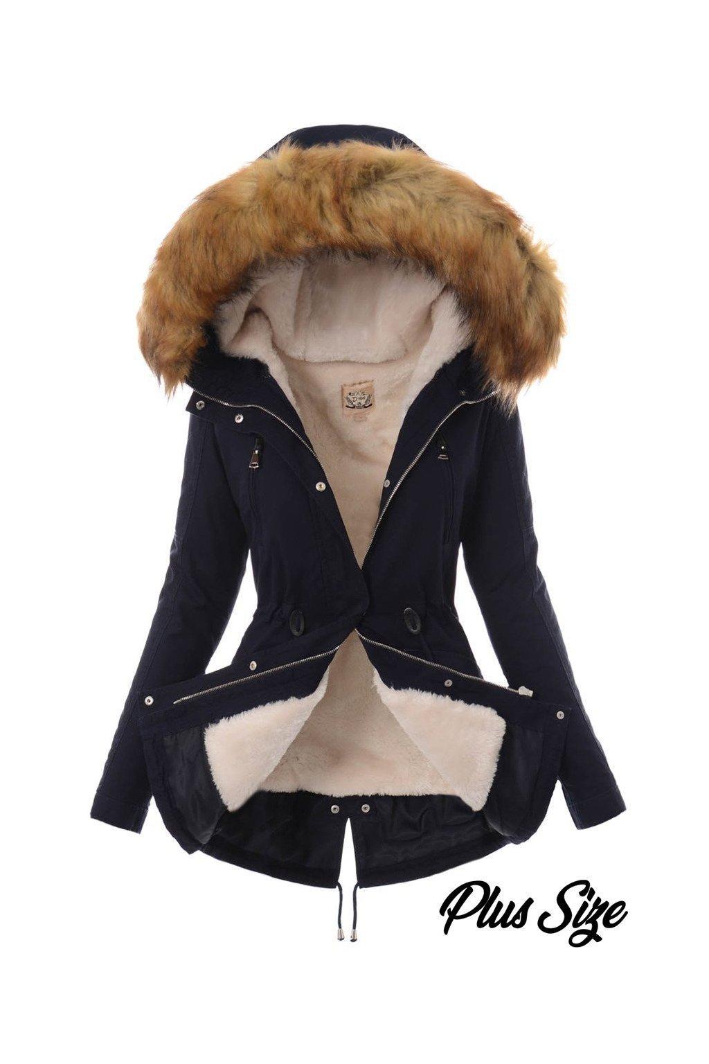 Dámska zimná bunda parka 2v1 5085 modrá