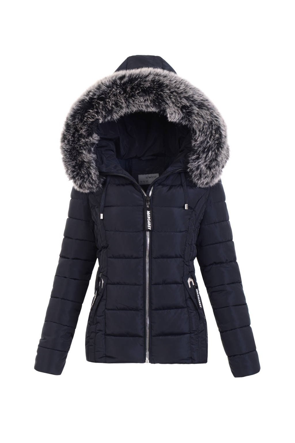 Dámska zimná bunda s kapucňou 5129 modrá