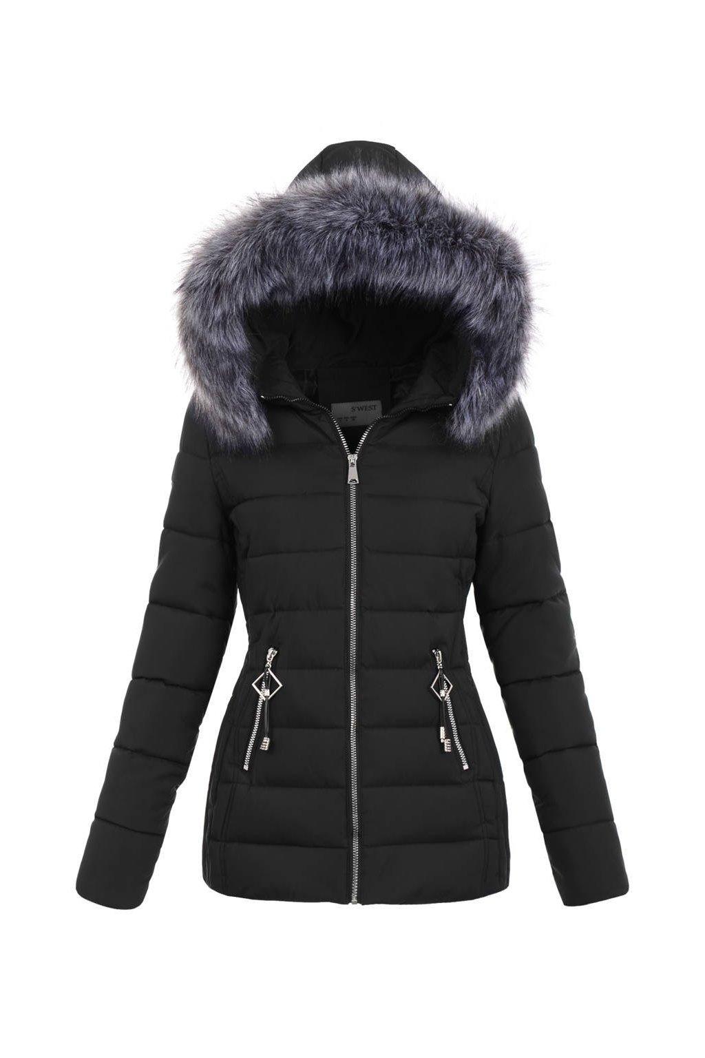 Dámska zimná bunda s kapucňou 5138 čierna