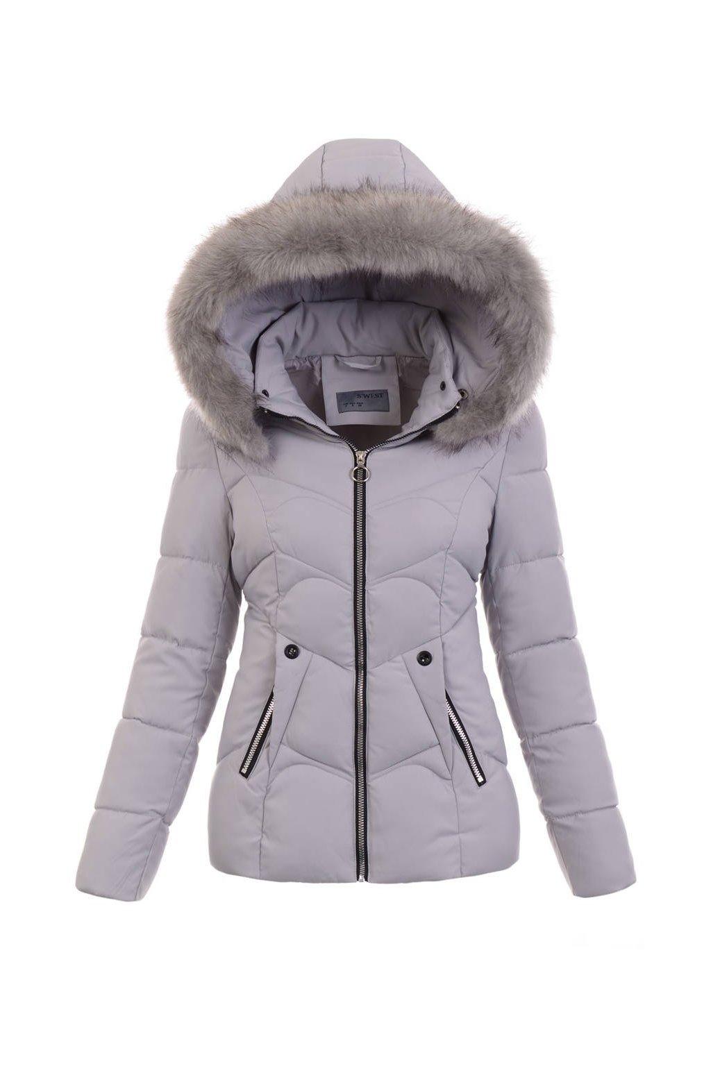 Dámska zimná bunda s kapucňo 5137 šedá