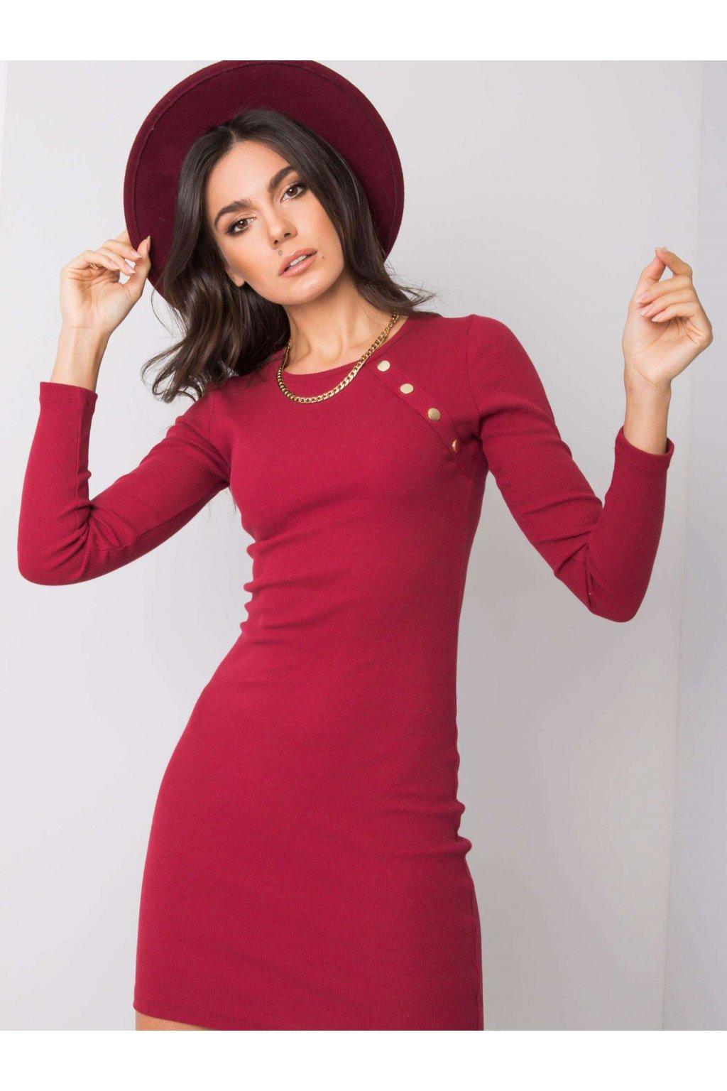 pol pl Bordowa sukienka Madlene RUE PARIS 358874 1