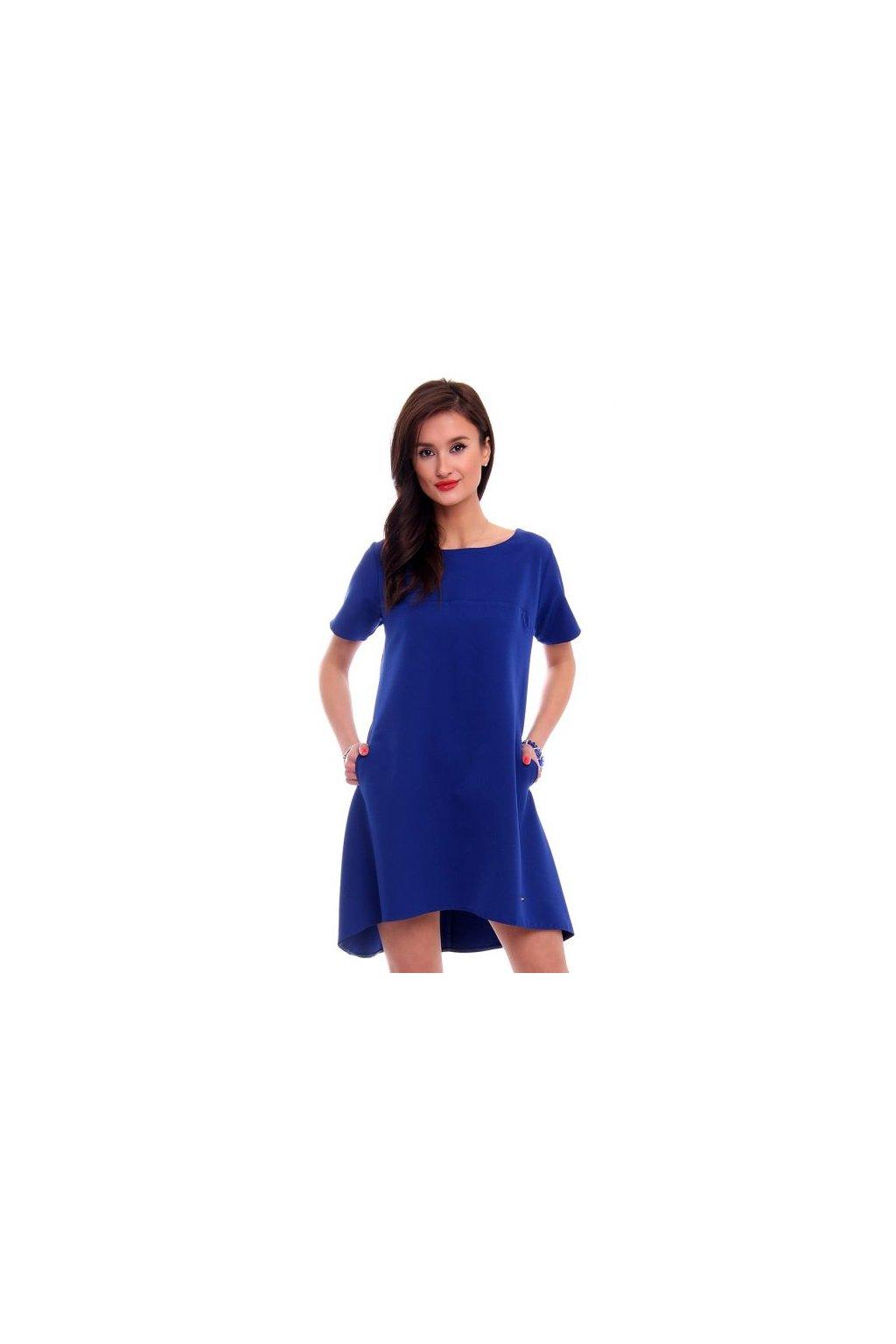 Koktejlové šaty CM465 modré - Tentation.sk 348211ffc6
