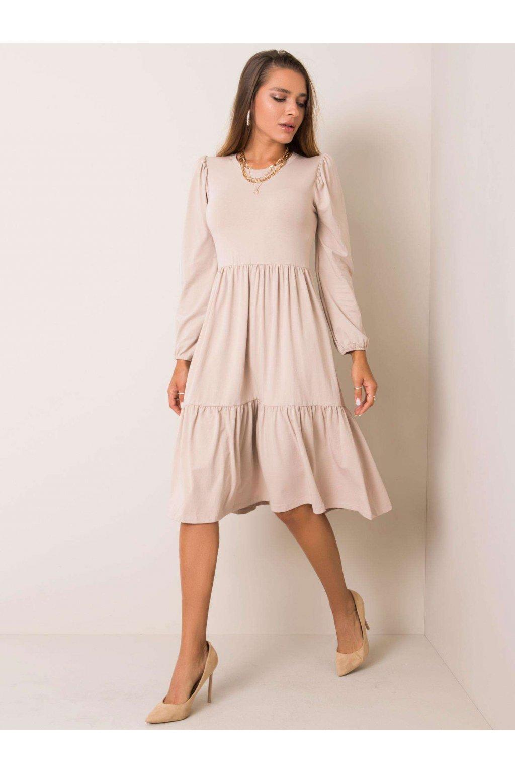 pol pl Bezowa sukienka Yonne RUE PARIS 354177 1
