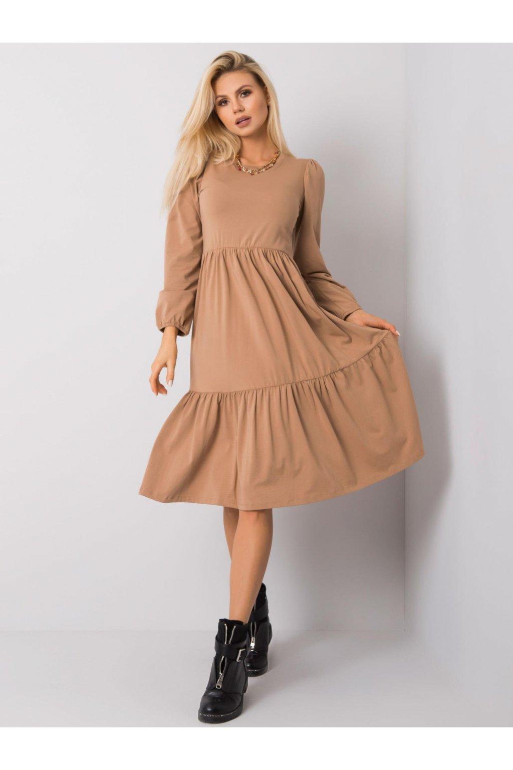 pol pl Camelowa sukienka Yonne RUE PARIS 357959 4