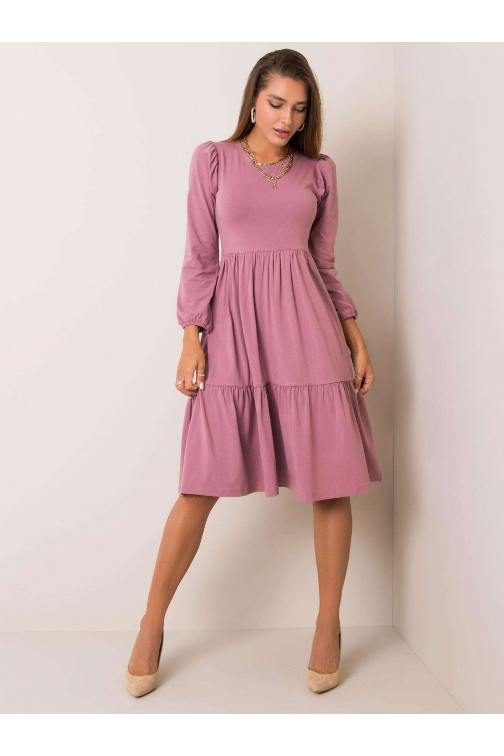 pol pl Brudnorozowa sukienka Yonne RUE PARIS 354175 1