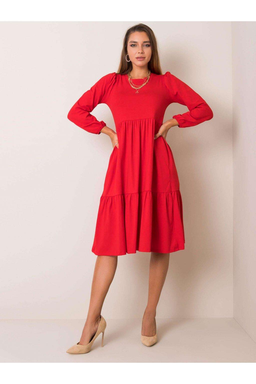 pol pl Czerwona sukienka Yonne RUE PARIS 354178 2