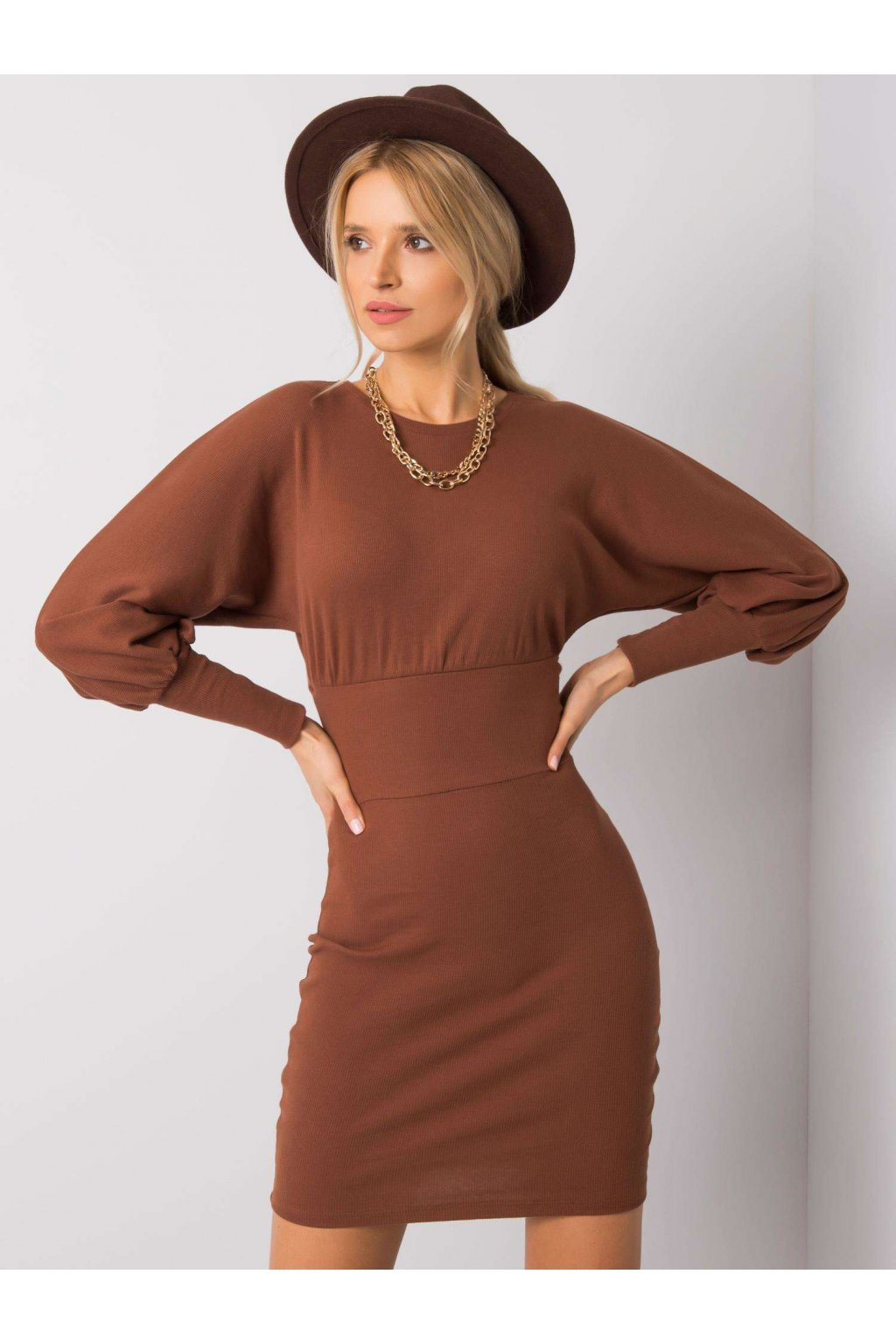 pol pl Brazowa sukienka Leticia RUE PARIS 358297 2