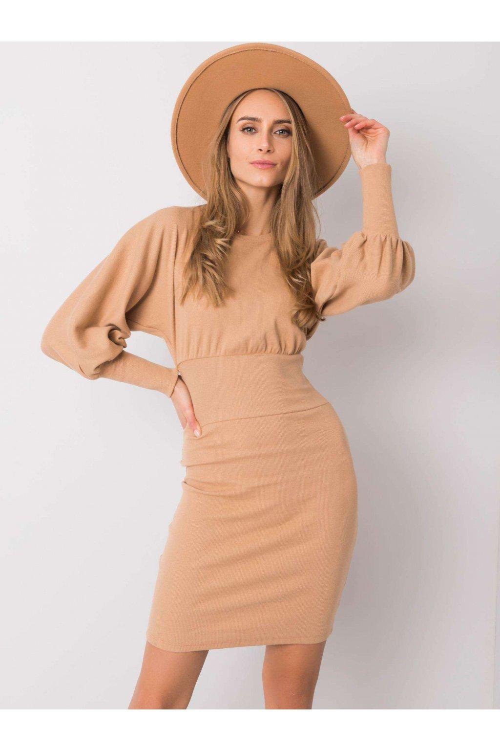 pol pl Camelowa sukienka Leticia RUE PARIS 359848 2