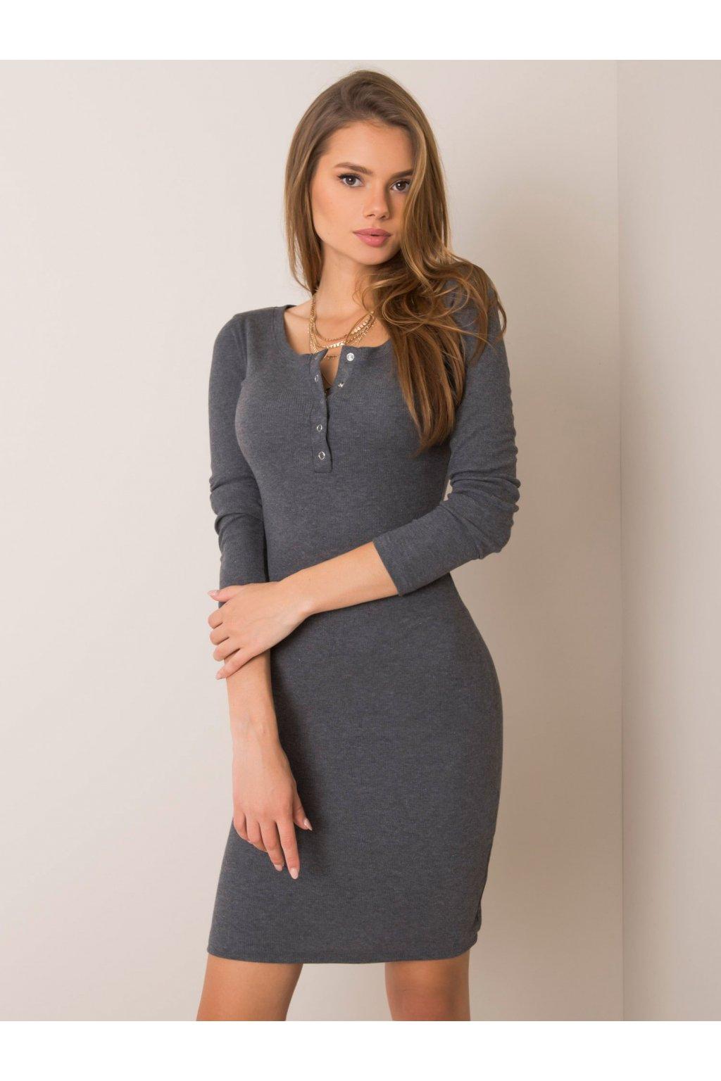 pol pl Ciemnoszara sukienka Mercy RUE PARIS 354807 2