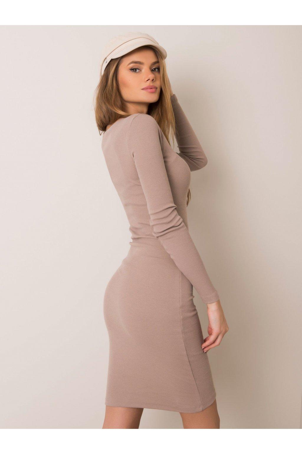 pol pl Ciemnobezowa sukienka Mercy RUE PARIS 354806 1