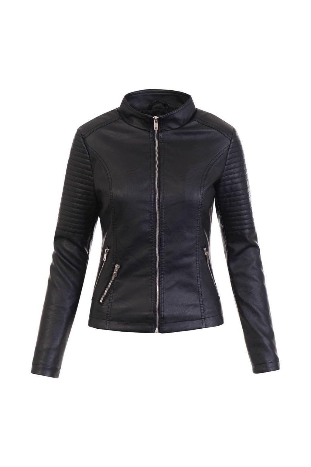 Dámska kožená bunda 5469 čierna