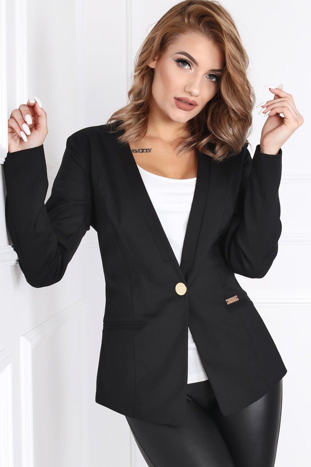 Dámske elegantné sako Melody čierne