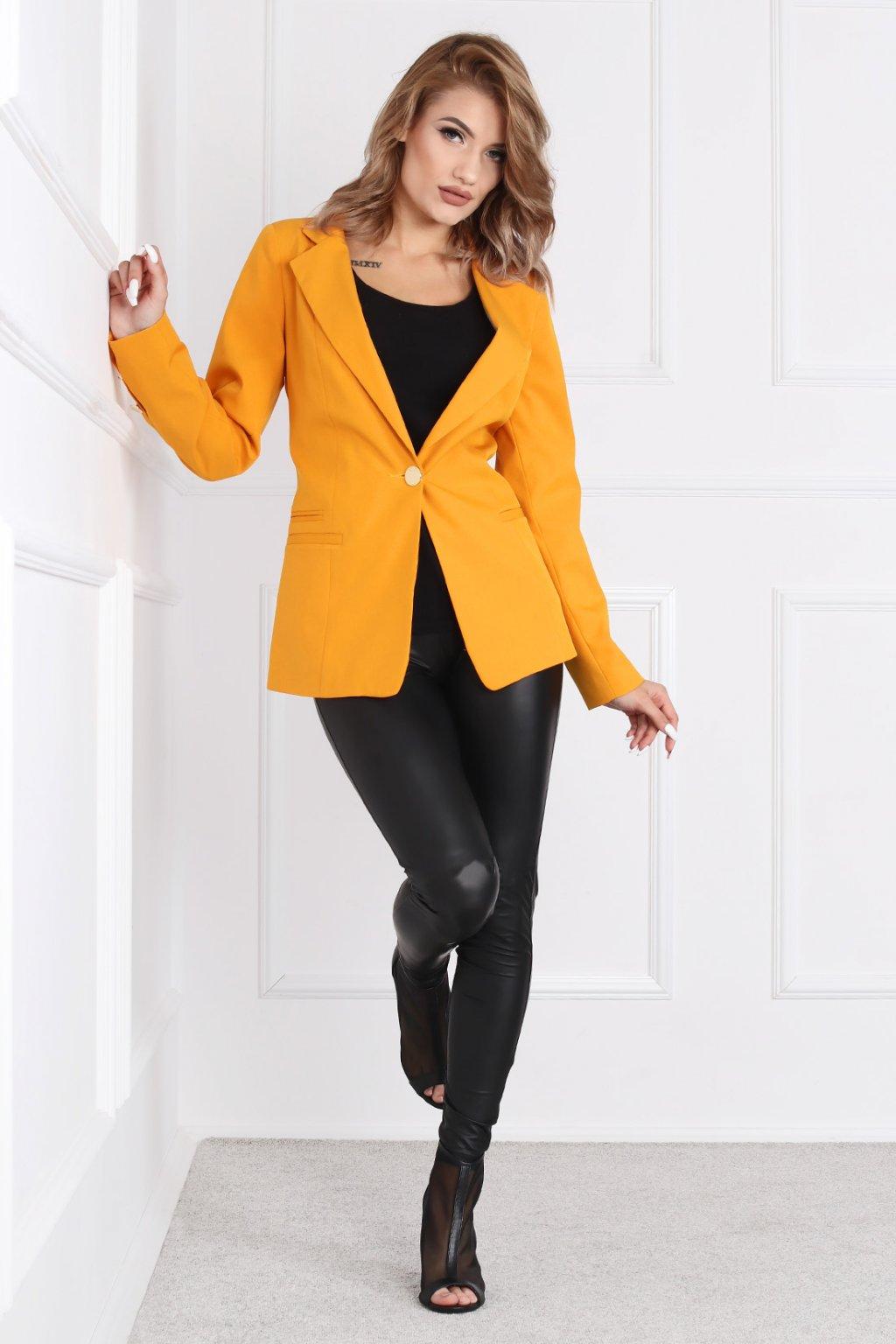Elegantné dámske sako Frida žlté