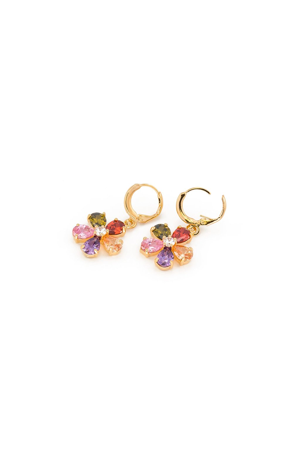 Zlaté náušnice kvet 23067